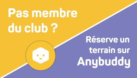 Réserver un terrain de tennis au Tennis Club Courneuvien avec Anybuddy
